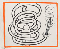 Keith Haring (1958-1990) Untitled, from Against All Odds, 1990 Offset lithograph in color