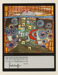 Prints & Multiples, Friedensreich Hundertwasser (1928-2000). Qatar, 1981. Offset lithograph in colors with metal embossing...