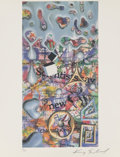 Prints & Multiples, Kenny Scharf (b. 1958). News Now, 1991. Offset lithograph in colors on fine art paper. 11 x 8-1/2 in...