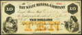 Eagle River, MI- Bay State Mining Company $10 Oct. 27, 1866 Very Fine-Extremely Fine
