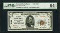Evansville, IN - $5 1929 Ty. 2 The Citizens National Bank Ch. # 2188 PMG Choice Uncirculated 64 EPQ