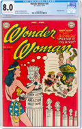 Golden Age (1938-1955):Superhero, Wonder Woman #36 (DC, 1949) CGC VF 8.0 Off-white to white pages....