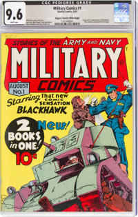 Military Comics #1 Mile High Pedigree (Quality, 1941) CGC NM+ 9.6 White pages