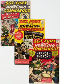 Sgt. Fury and His Howling Commandos Group of 4 (Marvel, 1964-65) Condition: Average FN.... (Total: 4)