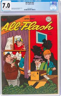 All-Flash #22 (DC, 1946) CGC FN/VF 7.0 Off-white to white pages