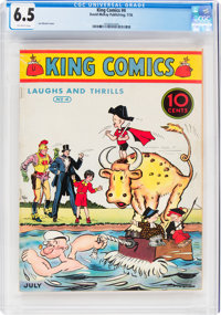 King Comics #4 (David McKay Publications, 1936) CGC FN+ 6.5 Off-white pages