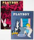 Magazines:Miscellaneous, Playboy #7 and 12 Group (HMH Publishing, 1954) Condition: Average FN.... (Total: 2 Items)