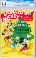 Golden Age (1938-1955):Humor, Donald and Mickey Merry Christmas #nn (K. K. Publications, Inc., 1945) CGC FN- 5.5 Off-white to white pages....