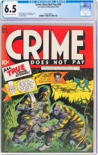 Crime Does Not Pay #29 (Lev Gleason, 1943) CGC FN+ 6.5 Off-white to white pages