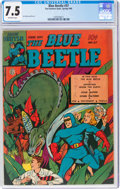 Golden Age (1938-1955):Superhero, Blue Beetle #37 (Fox Features Syndicate, 1945) CGC VF- 7.5 Off-white pages....
