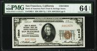 San Francisco, CA - $20 1929 Ty. 1 Bank of America National Trust & Savings Assoc Ch. # 13044 PMG Choic