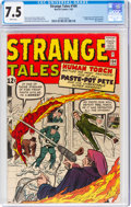 Silver Age (1956-1969):Superhero, Strange Tales #104 (Marvel, 1963) CGC VF- 7.5 White pages....