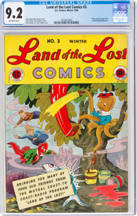Land of the Lost Comics #3 (EC, 1946) CGC NM- 9.2 Off-white pages