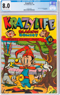 Golden Age (1938-1955):Funny Animal, KrazyLife #1 (Fox, 1945) CGC VF 8.0 Off-white to white pages....