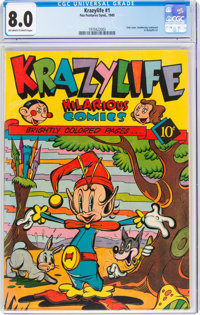 KrazyLife #1 (Fox, 1945) CGC VF 8.0 Off-white to white pages