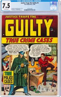 Justice Traps the Guilty #5 (Prize, 1948) CGC VF- 7.5 Off-white pages