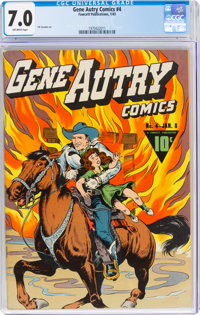 Gene Autry Comics #4 (Fawcett Publications, 1943) CGC FN/VF 7.0 Off-white pages