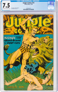 Jungle Comics #72 (Fiction House, 1945) CGC VF- 7.5 Light tan to off-white pages