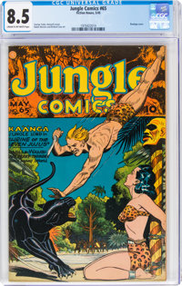 Jungle Comics #65 (Fiction House, 1945) CGC VF+ 8.5 Cream to off-white pages