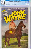 Golden Age (1938-1955):Western, John Wayne Adventure Comics #7 (Toby Publishing, 1950) CGC VF- 7.5 Off-white to white pages....