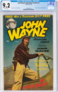 Golden Age (1938-1955):Adventure, John Wayne Adventure Comics #3 (Toby Publishing, 1950) CGC NM- 9.2 Off-white pages....