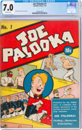 Golden Age (1938-1955):Adventure, Joe Palooka #1 (Columbia, 1942) CGC FN/VF 7.0 Off-white pages....