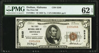 Dothan, AL - $5 1929 Ty. 1 The First National Bank Ch. # 5249 PMG Uncirculated 62 EPQ
