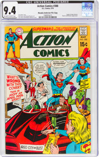 Action Comics #388 Murphy Anderson File Copy (DC, 1970) CGC NM 9.4 Off-white to white pages
