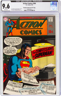 Action Comics #380 Murphy Anderson File Copy (DC, 1969) CGC NM+ 9.6 White pages