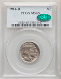 1914-D 5C MS65 PCGS. CAC. PCGS Population: (193/62). NGC Census: (70/21). CDN: $950 Whsle. Bid for NGC/PCGS MS65. Mintag...