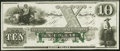 Newport, RI- New England Commercial Bank $10 18__ Remainder Choice Crisp Uncirculated