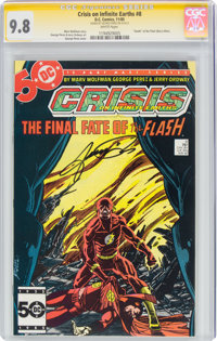 Crisis on Infinite Earths #8 Signature Series (DC, 1985) CGC NM/MT 9.8 White pages