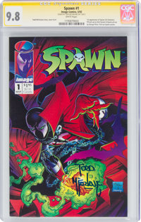 Spawn #1 Signature Series (Image, 1992) CGC NM/MT 9.8 White pages