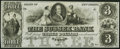 Obsoletes By State:New Jersey, Newton, NJ- Sussex Bank $3 18__ Remainder Crisp Uncirculated.. ...