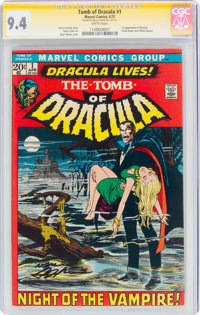 Tomb of Dracula #1 Signature Series (Marvel, 1972) CGC NM 9.4 White pages