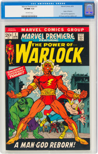 Marvel Premiere #1 Warlock (Marvel, 1972) CGC VF/NM 9.0 Off-white pages