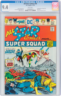 All Star Comics #58 (DC, 1976) CGC NM 9.4 White pages