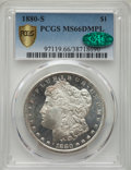 1880-S $1 MS66 Deep Mirror Prooflike PCGS. CAC. PCGS Population: (222/30 and 6/1+). NGC Census: (104/18 and 1/0+). MS66...