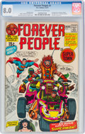 Bronze Age (1970-1979):Superhero, The Forever People #1 (DC, 1971) CGC VF 8.0 Off-white to white pages....