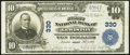 National Bank Notes:Maine, Lewiston, ME - $10 1902 Plain Back Fr. 624 The First National Bank Ch. # 330 Very Fine-Extremely Fine.. ...