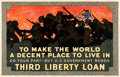 "Movie Posters:War, World War I Propaganda (Edwards & Deutsch Litho Co., 1918). Fine/Very Fine on Linen. Third Liberty Loan Poster (35.75"" X 55...."