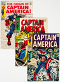 Silver Age (1956-1969):Superhero, Captain America Group of 6 (Marvel, 1968-69) Condition: Average VF+.... (Total: 6 Comic Books)