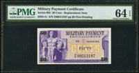 Series 692 50¢ Replacement First Printing PMG Choice Uncirculated 64 EPQ