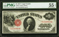 Large Size:Legal Tender Notes, Fr. 36 $1 1917 Legal Tender PMG About Uncirculated 55 EPQ.. ...