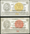 "Baraboo, WI- Ringling Bros. 50th Anniversary Scrip Nov. 1, 1933. 5¢ Shafer WI100-.05a Choice CU, usual ""press..."
