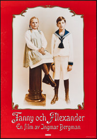 "Fanny and Alexander (Sandrew Film & Teater, 1982). Rolled, Very Fine. Swedish One Sheet (27.5"" X 39.25""..."