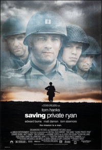 "Saving Private Ryan (Paramount, 1998). Rolled, Very Fine. One Sheet (27"" X 40"") SS. War"