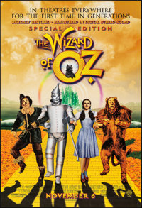 """The Wizard of Oz & Other Lot (MGM, R-1998). Rolled, Very Fine+. One Sheets (3) (27"""" X 40"""") DS Advance. Fan..."""