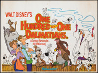 "101 Dalmatians (Walt Disney Productions, R-1976). Folded, Fine. British Quad (30"" X 40""). Animation"
