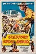 "Movie Posters:Western, Goldtown Ghost Riders (Columbia, 1952). Folded, Very Fine. One Sheet (27"" X 41""). Western.. ..."